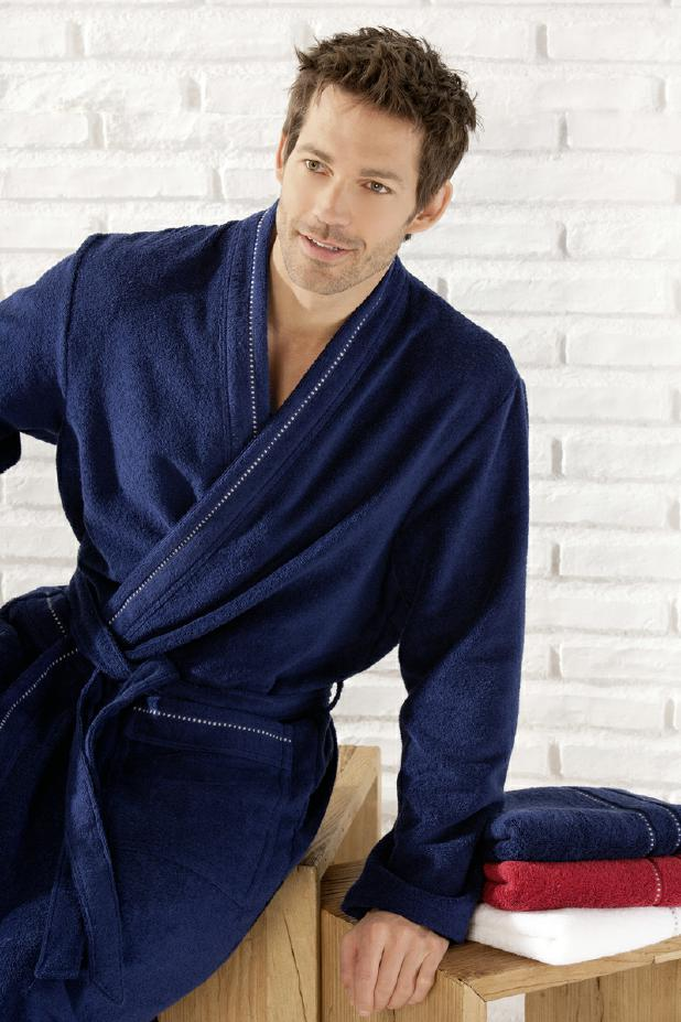 Bathrobe Caw� thin sizes blue ivory white anthracite
