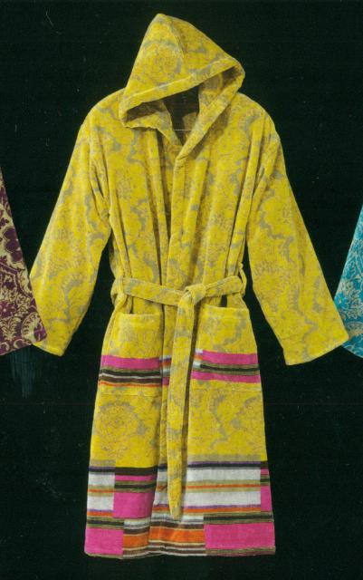 Shawl collar bathrobe Carrara turquoise