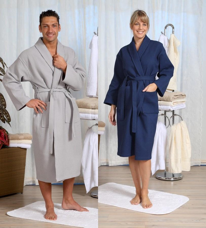 bathrobe waffle piqu� unisex from S to 4 XL