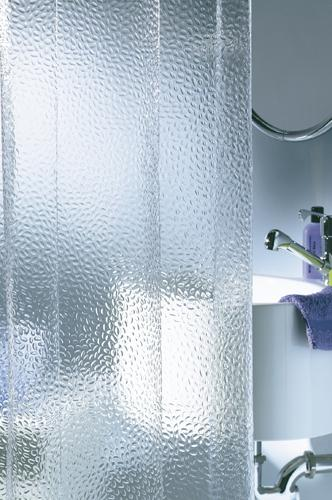 Transparent vinyl shower curtain Crystal 180 x 200