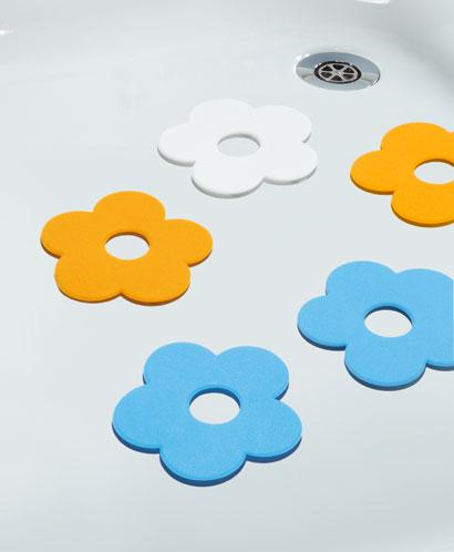Bath tubs deposits pads Flowers Set of 5