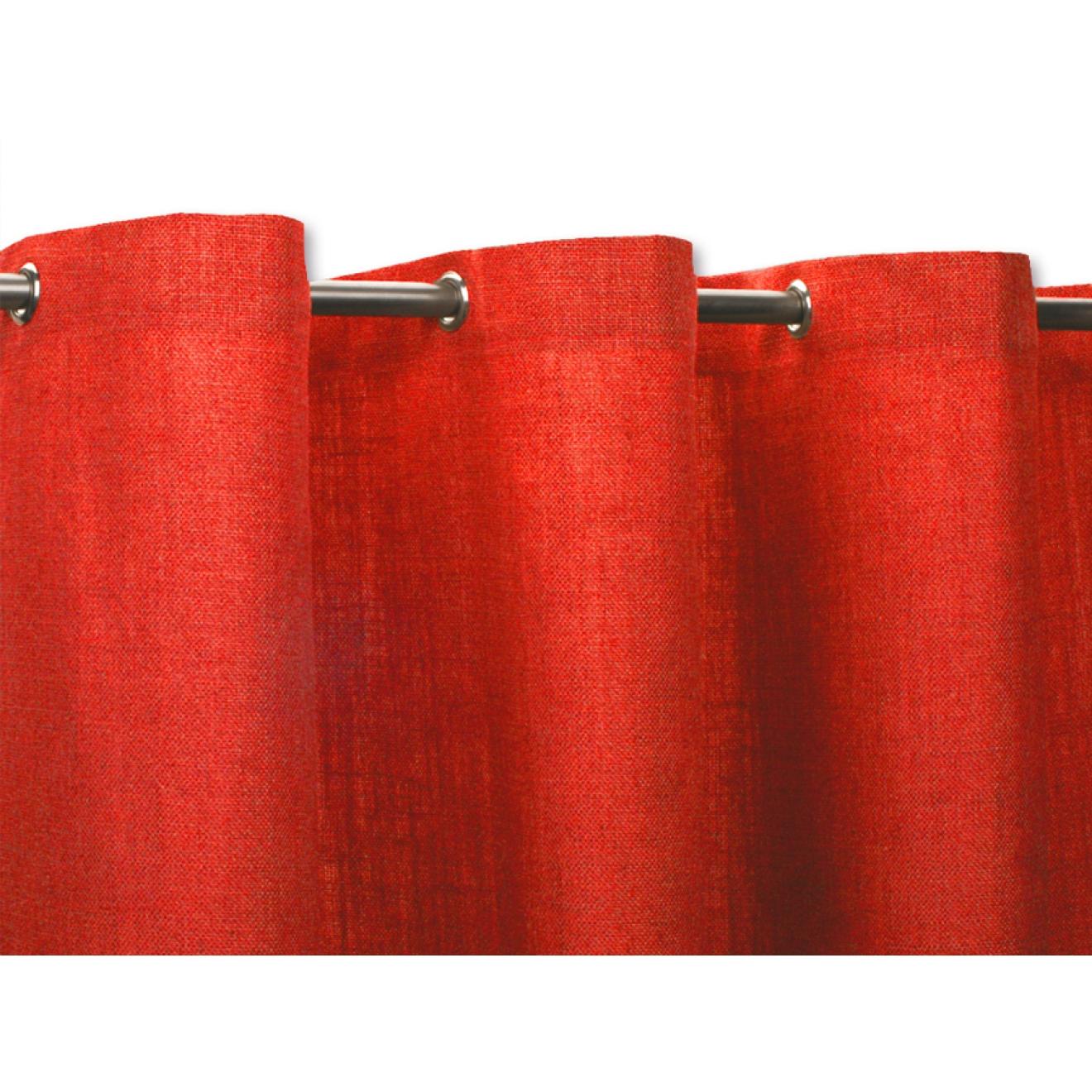 textil duschvorhang leinen baumwolle rot in vielen gr en. Black Bedroom Furniture Sets. Home Design Ideas