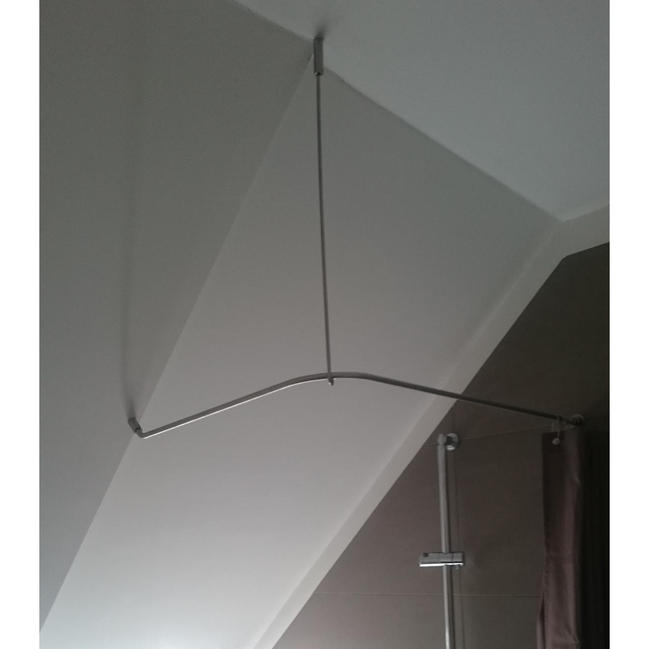 duschvorhangstange f r dachschr ge edelstahl von burschberg. Black Bedroom Furniture Sets. Home Design Ideas