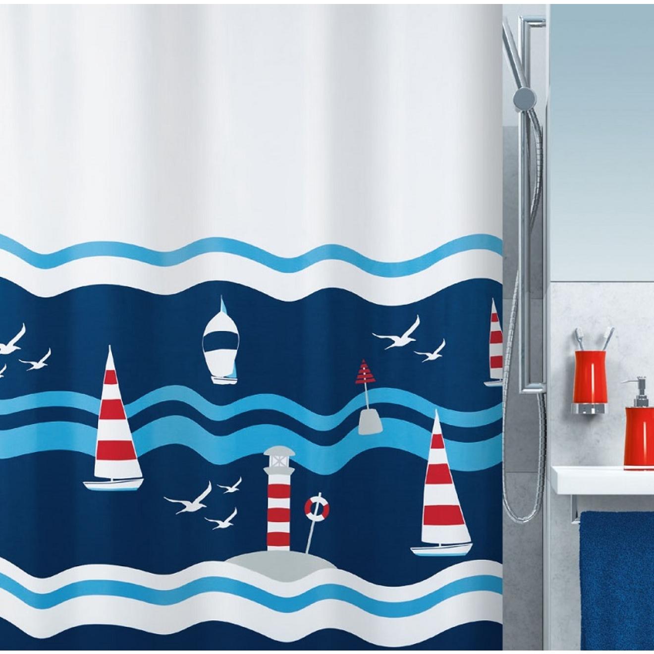 duschvorhang clipperi textil 180 x 200cm. Black Bedroom Furniture Sets. Home Design Ideas