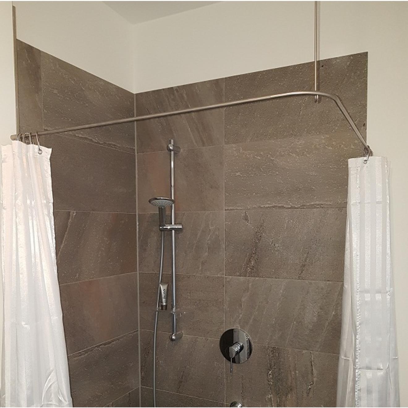 duschvorhangstange edelstahl 10 mm l form von burschberg f r badewanne und dusc. Black Bedroom Furniture Sets. Home Design Ideas