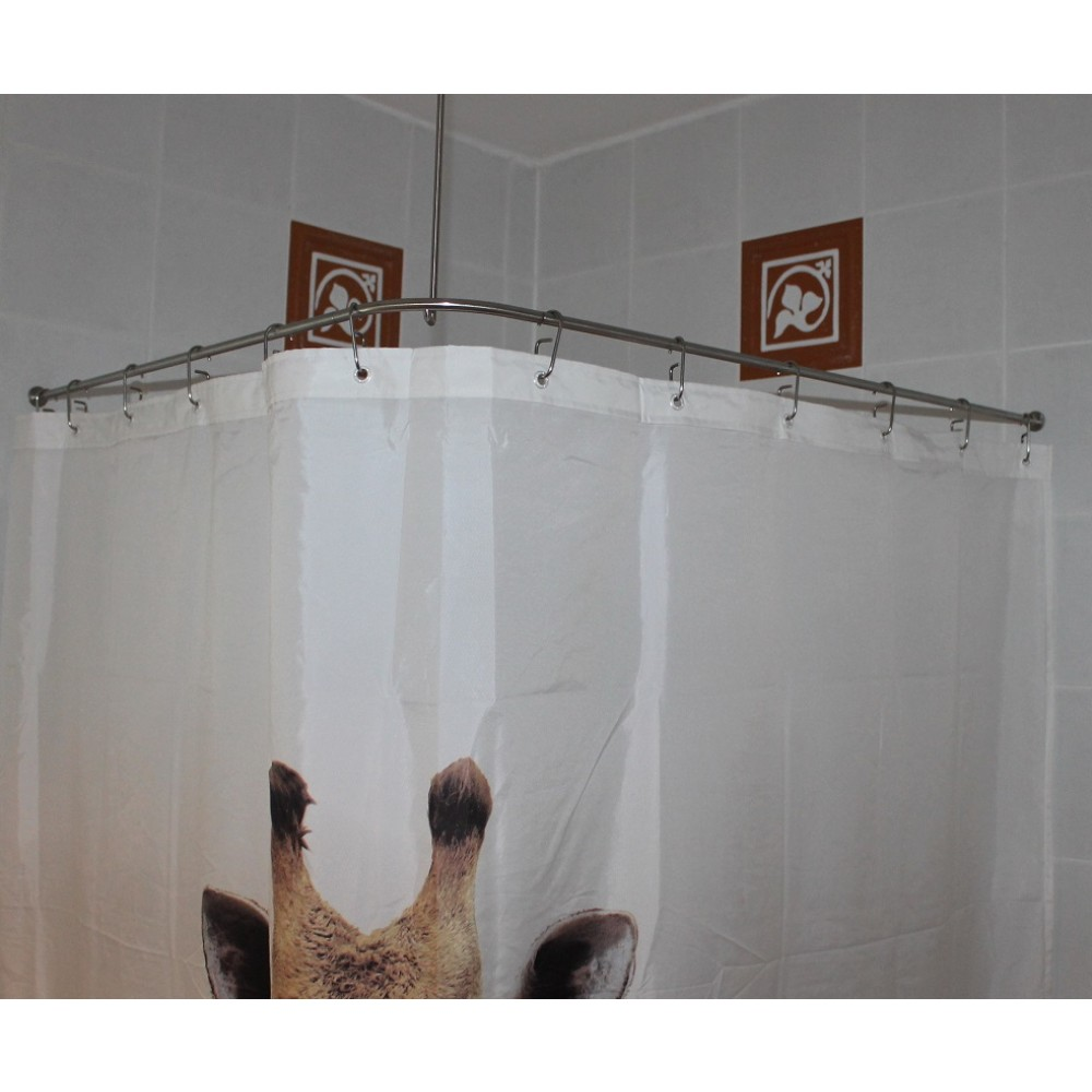duschvorhangstange edelstahl 10 mm l form von burschberg. Black Bedroom Furniture Sets. Home Design Ideas