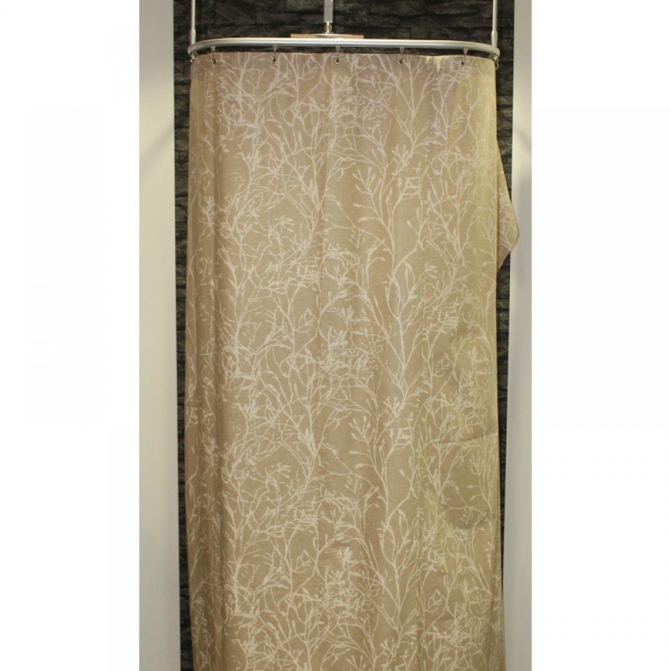 textil duschvorhang aus baumwolle polyester floral natur in vielen gr en. Black Bedroom Furniture Sets. Home Design Ideas