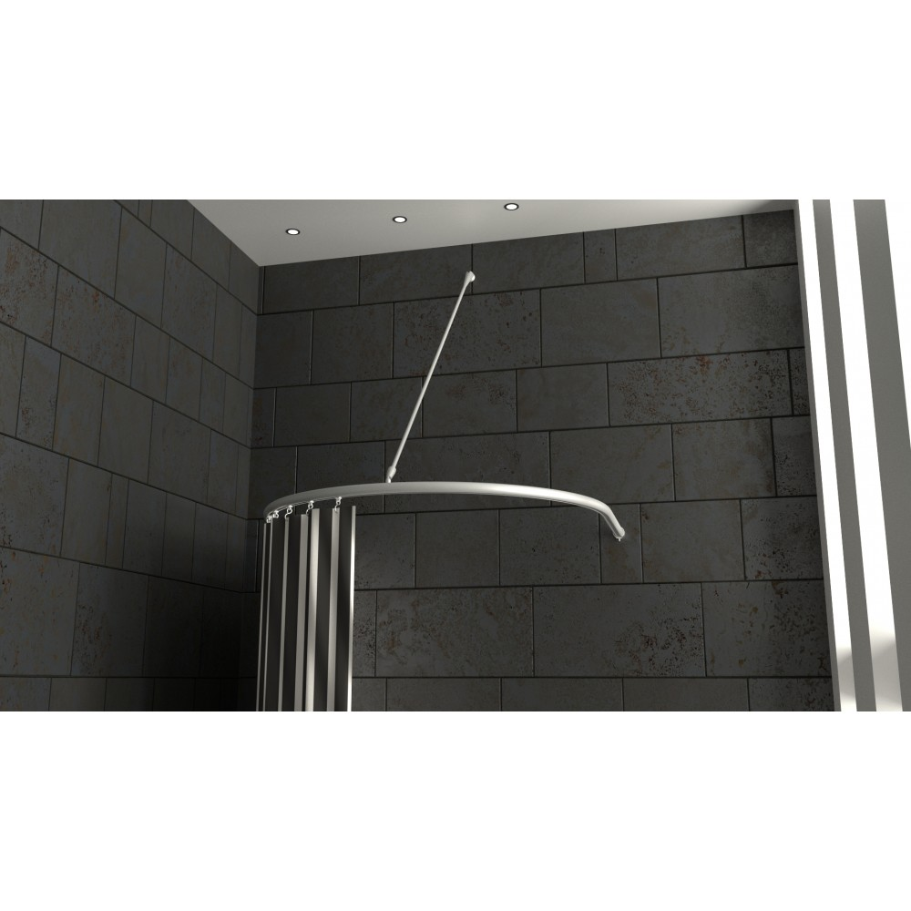 duschvorhangstange halbkreis mit wandh nger duschvorhangstange. Black Bedroom Furniture Sets. Home Design Ideas