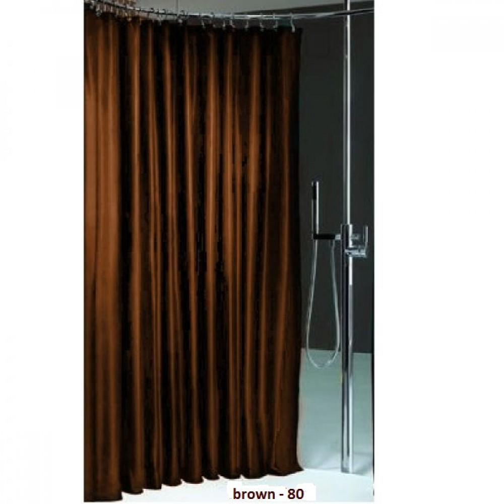 textil duschvorhang luxus metallic optik brown viele gr en. Black Bedroom Furniture Sets. Home Design Ideas