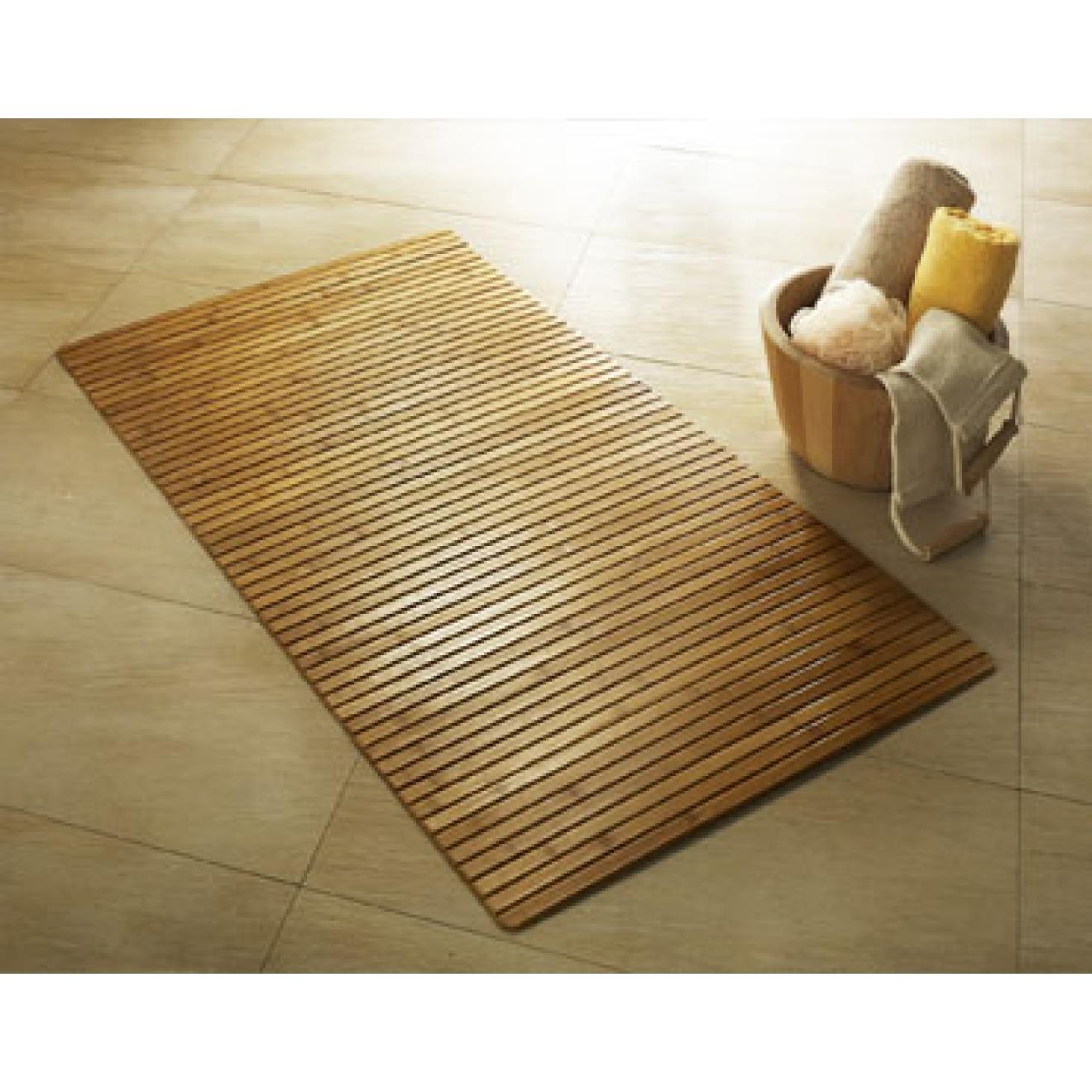holz badematte bambus in 2 gr en. Black Bedroom Furniture Sets. Home Design Ideas
