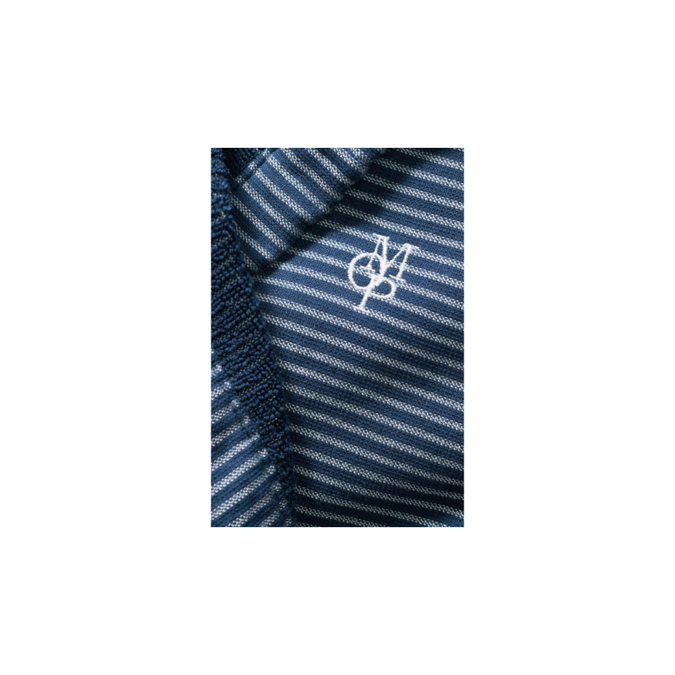 08cb85919cf496 Marc O´Polo Bademantel mit Kapuze Kurz blau weiß gestreift ...