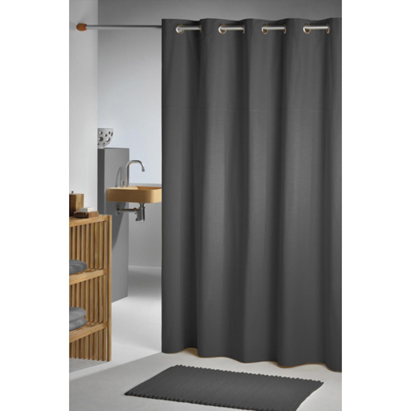 duschvorhang baumwolle polyester coloris natur diverse gr en. Black Bedroom Furniture Sets. Home Design Ideas