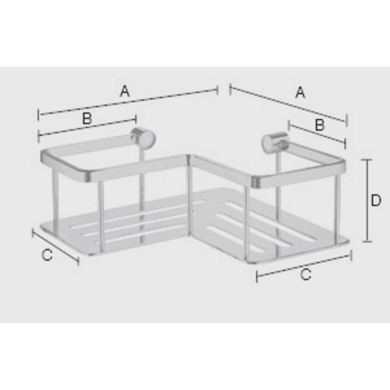 seifenablage duschkorb ber eck outline verchromt. Black Bedroom Furniture Sets. Home Design Ideas