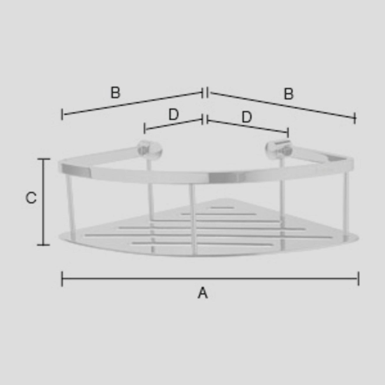 duschkorb ber eck messing verchromt. Black Bedroom Furniture Sets. Home Design Ideas