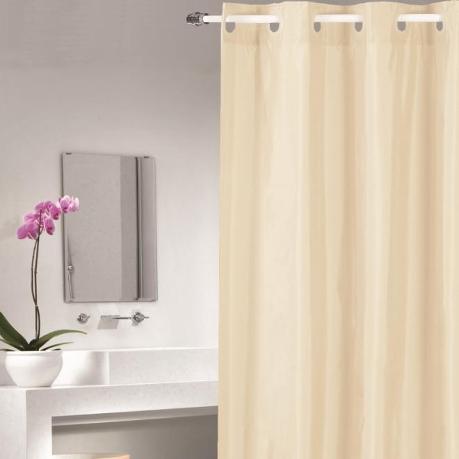 Duschvorhang Textil duschvorhang textil 180cm x 200cm creme