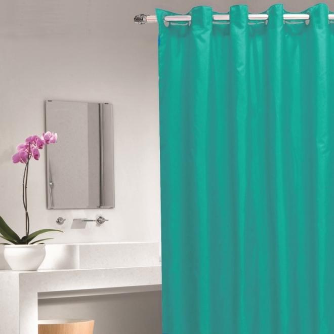 Duschvorhang Seilsystem duschvorhang textil 180cm x 200cm türkis