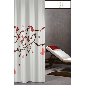 duschvorhang blossom textil 180cm x 200cm duschvorhangstangen duschvorh nge und hochwertige. Black Bedroom Furniture Sets. Home Design Ideas
