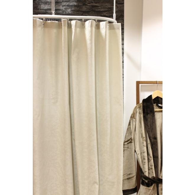 textil duschvorhang baumwolle polyester barock sand. Black Bedroom Furniture Sets. Home Design Ideas