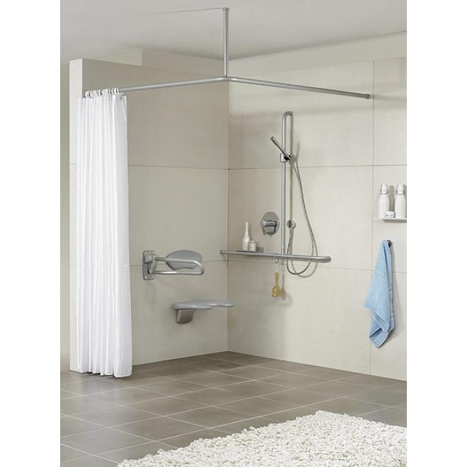 duschvorhangstange u form von erlau hochglanzpoliert. Black Bedroom Furniture Sets. Home Design Ideas