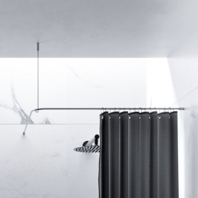 Duschvorhangstange Edelstahl 10 Mm L Form Von Burschberg Für Duschen