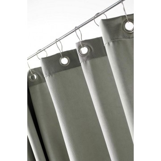 duschvorhang loft textil polyester 180 x 200 in schilfgrau und weiteren farben. Black Bedroom Furniture Sets. Home Design Ideas