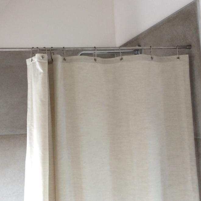 Duschvorhang Seilsystem textil duschvorhang luxus leinenlook verschiedene farben alle