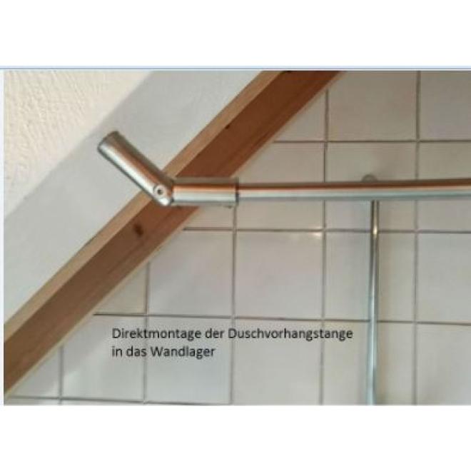 bewegliches wandlager f r schr ge decken und w nde duschvorhangstangen duschvorh nge und. Black Bedroom Furniture Sets. Home Design Ideas