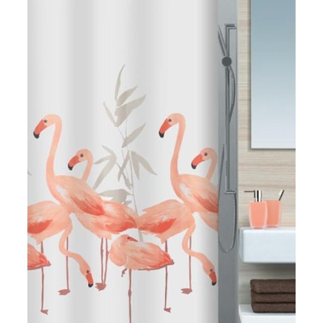 Duschvorhang flamingo textil viele gr en und sonderma e for Spirella badaccessoires
