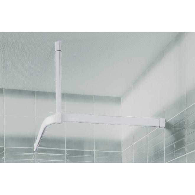 Duschvorhang Seilsystem duschvorhang befestigungssystem weiß verschiedene maße