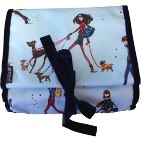 "ZPM Kulturtasche ""Walking the dogs"" zum ausrollen"