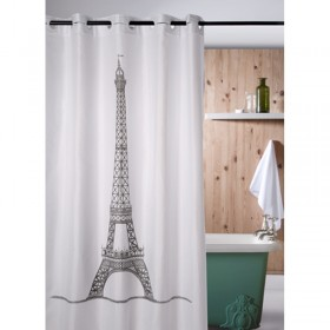 eifelturm duschvorhang textil 180cm x 200cm. Black Bedroom Furniture Sets. Home Design Ideas