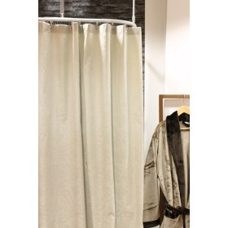 Duschvorhang Seilsystem duschvorhang doppio baumwolle anthrazit weiß 180 x 200
