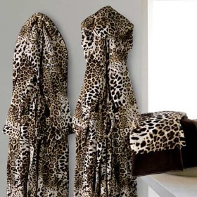 Exclusiver Bademantel Roberto Cavalli im Leopardenlook