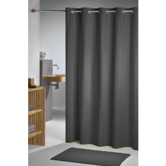 Duschvorhang Seilsystem textil duschvorhang magic satin stripe weiß