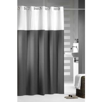 duschvorhang doppio baumwolle anthrazit wei 180 x 200. Black Bedroom Furniture Sets. Home Design Ideas